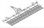 Борона зубовая двухследная БЗСП 13 с секциями БЗСС-1,0